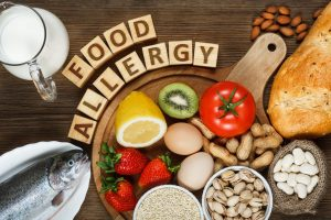 food allergy, allergens, seafood, nuts, milk, egg