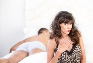 cougar in bed with younger man