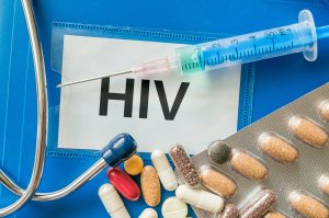 HIV positive, syringe, medications