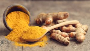 turmeric root and powder
