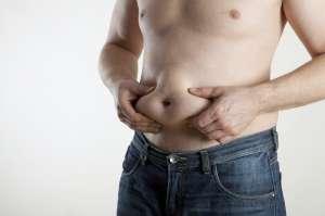 pinching belly fat